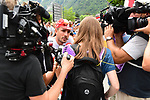 John Degenkolb (GER) Trek-Segafredo at sign on before the start of Stage 13 of the 2018 Tour de France running 169.5km from Bourg d'Oisans to Valence, France. 20th July 2018. <br /> Picture: ASO/Alex Broadway | Cyclefile<br /> All photos usage must carry mandatory copyright credit (© Cyclefile | ASO/Alex Broadway)