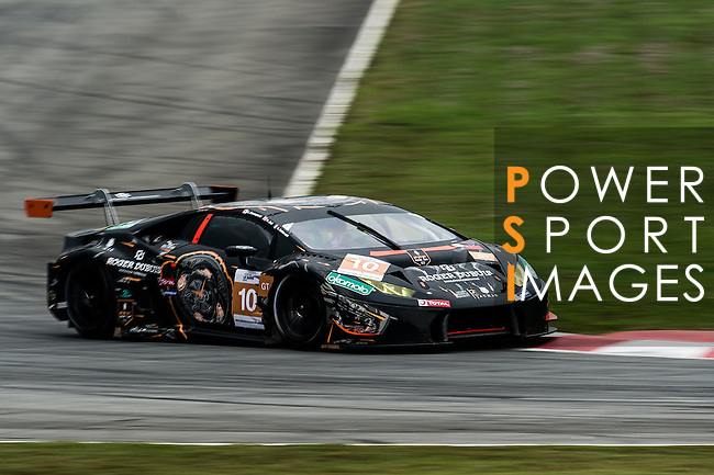 FFF Racing by ACM, #10 Lamborghini Huracan GT3, driven by Hiroshi Yamaguchi, Matt Bell and Andrea Caldarelli in action during the Free Practice 1 of the 2016-2017 Asian Le Mans Series Round 1 at Zhuhai Circuit on 29 October 2016, Zhuhai, China.  Photo by Marcio Machado / Power Sport Images