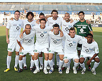 Starting eleven of the Harrisburg City Islanders during a US Open Cup match against D.C. United at the Maryland Soccerplex on July 21 2010, in Boyds, Maryland .United won 2-0.