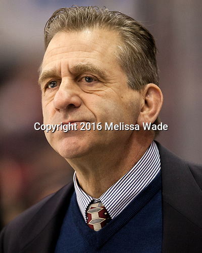 Keith Allain (Yale - Head Coach) The Boston University Terriers defeated the visiting Yale University Bulldogs 5-2 on Tuesday, December 13, 2016, at the Agganis Arena in Boston, Massachusetts.