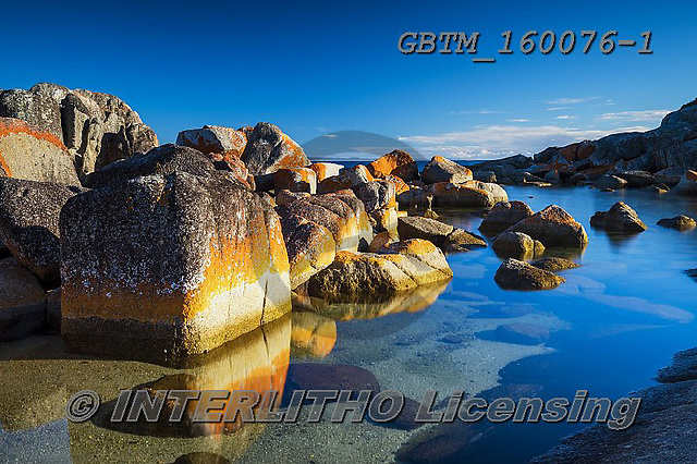 Tom Mackie, LANDSCAPES, LANDSCHAFTEN, PAISAJES, photos,+Australia, Bay of Fires, Binalong Bay, Tasmania, Tom Mackie, Worldwide, atmosphere, atmospheric, beautiful, coast, coastal, c+oastline, coastlines, color, colorful, colour, colourful, holiday destination, horizontally, horizontals, lichen, orange, pea+ceful, restoftheworldgallery, rock, rocky, rugged, scenery, scenic, tourism, tourist attraction, tranquil, tranquility, trave+l, vacation, water, water's edge,Australia, Bay of Fires, Binalong Bay, Tasmania, Tom Mackie, Worldwide, atmosphere, atmosphe+,GBTM160076-1,#l#