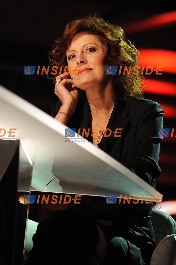 """Susan SARANDON.Roma 26/02/2010 5° puntata di Sciok programma de LA7  .Tv Show """"Sciok"""".Foto GB/Insidefoto"""