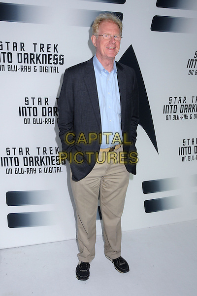 Ed Begley Jr.<br /> &quot;Star Trek Into Darkness&quot; DVD/Blu-Ray Release held at the California Science Center, Los Angeles, California, USA.<br /> September 10th, 2013<br /> full length suit jacket blue shirt beige trousers glasses <br /> CAP/ADM/BP<br /> &copy;Byron Purvis/AdMedia/Capital Pictures