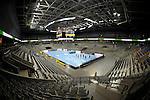 GER - Mannheim, Germany, September 23: General view before the DKB Handball Bundesliga match between Rhein-Neckar Loewen (yellow) and TVB 1898 Stuttgart (white) on September 23, 2015 at SAP Arena in Mannheim, Germany.  im Spiel Rhein-Neckar Loewen - TVB 1898 Stuttgart.<br /> <br /> Foto &copy; PIX-Sportfotos *** Foto ist honorarpflichtig! *** Auf Anfrage in hoeherer Qualitaet/Aufloesung. Belegexemplar erbeten. Veroeffentlichung ausschliesslich fuer journalistisch-publizistische Zwecke. For editorial use only.