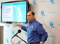 FPL press conference with Rob Gould at the FPL Command Center in Riviera Beach, Florida on September 9, 2017.