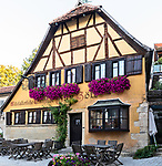 A medieval tavern survives in today's Rothenburg