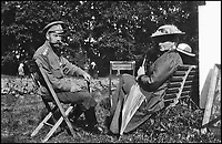 BNPS.co.uk (01202 558833)Pic: GalinaKorneva/BNPS<br /> <br /> Nicholas and Alexandra in captivity, 1917.<br /> <br /> A Russian Grand Duke branded King George V a 'scoundrel' who 'did not lift a finger' to save the Romanov family in the revolution there of 1917, explosive diaries have revealed.<br /> <br /> The cousin of the overthrown Russian Royal family blamed the British King for their executions because he failed to grant them refuge.<br />  <br /> Dmitri Pavlovich no-holds-barred diary extracts have been published for the first time in a new book by respected historian Coryne Hall, To Free The Romanovs.