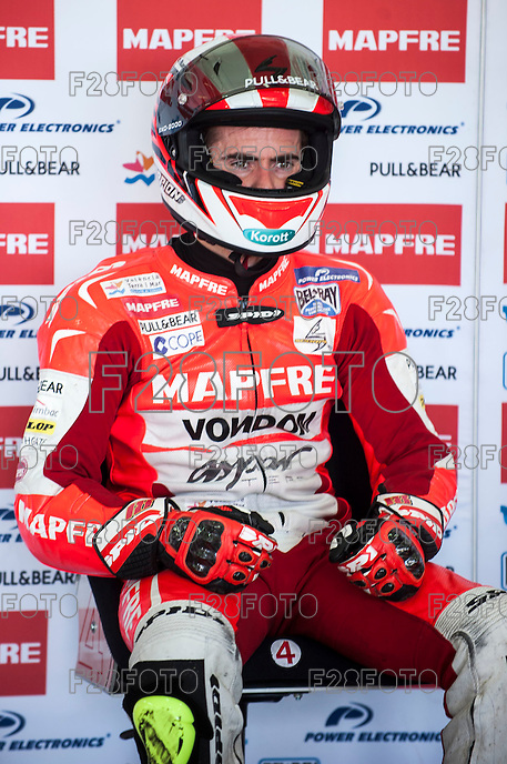Nico Terol  in Mapfre Aspar Team box at pre season winter test IRTA Moto3 & Moto2 at Ricardo Tormo circuit in Valencia (Spain), 11-12-13 February 2014