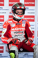 Nico Terol  in Mapfre Aspar Team box at pre season winter test IRTA Moto3 & Moto2 at Ricardo Tormo circuit in Valencia (Spain), 11-12-13 February 2014