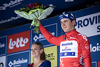 Remco Evenepoel (BEL/Deceuninck Quick Step) also receives the 'red jersey' as new leader in the points classification. <br /> <br /> Baloise Belgium Tour 2019<br /> Stage 4: Seraing – Seraing 151.1km<br /> ©kramon