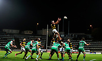 Taranaki lineout during the Mitre 10 Cup Ranfurly Shield Rugby Match between Taranaki and Manawatu at Yarrow Stadium, New Plymouth, Auckland,  New Zealand. Wednesday 11th October 2017. Photo: Simon Watts / www.bwmedia.co.nz