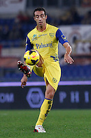 Calcio, Serie A: Roma vs ChievoVerona. Roma, stadio Olimpico, 31 ottobre 2013.<br /> ChievoVerona defender Dario Dainelli in action during the Italian Serie A football match between AS Roma and ChievoVerona at Rome's Olympic stadium, 31 October 2013.<br /> UPDATE IMAGES PRESS/Isabella Bonotto