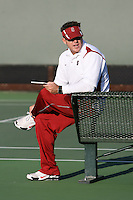 STANFORD, CA - JANUARY 30:  Frankie Brennan Jr. of the Stanford Cardinal during Stanford's 6-1 win over the Colorado Buffaloes in the ITA Indoor Qualifying on January 30, 2009 at the Taube Family Tennis Stadium in Stanford, California.