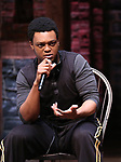 """J. Quinton Johnson from the 'Hamilton' cast during a Q & A before The Rockefeller Foundation and The Gilder Lehrman Institute of American History sponsored High School student #EduHam matinee performance of """"Hamilton"""" at the Richard Rodgers Theatre on May 24, 2017 in New York City."""