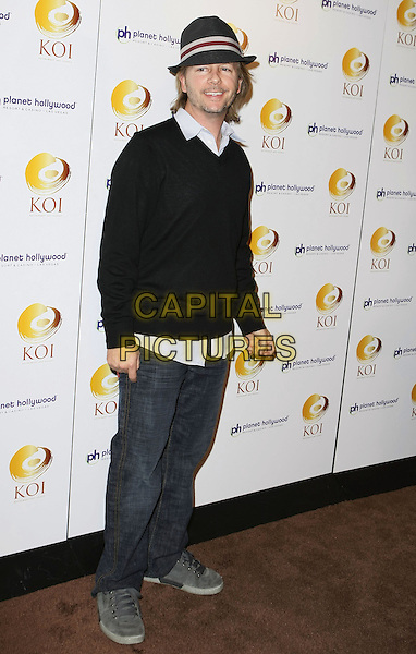 DAVID SPADE.Koi Las Vegas Opening held at Planet Hollywood Resort and Casino, Las Vegas, Nevada, USA..November 10th, 2007.full length black top sweater hat fedora white stripe trilby jeans denim.CAP/ADM/MJT.©AdMedia/Capital Pictures.