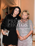 Susan Higgins and Bernie Casserly pictured at the Ardee Traders annual awards night in the Nuremore Hotel. Photo:Colin Bell/pressphotos.ie