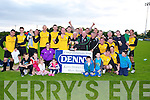 CHAMPIPONS: Champions Rattoo Rovers B team after the Capt was presented with the 2nd Div Cup by John O'Regan after they defeated Mastergeaha, in the peanalty shut off by 4 - 3.in replay at Mounthawk Park, Tralee on Saturday evening. ....