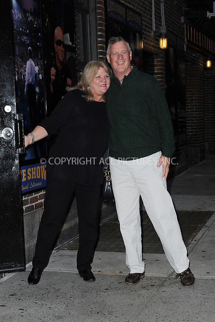 WWW.ACEPIXS.COM <br /> October 28, 2014 New York City<br /> <br /> Taylor Swift's parents after taping an appearance on the Late Show with David Letterman on October 28, 2014 in New York City.<br /> <br /> Please byline: Kristin Callahan/ACE Pictures  <br /> <br /> ACEPIXS.COM<br /> Ace Pictures, Inc<br /> tel: (212) 243 8787 or (646) 769 0430<br /> e-mail: info@acepixs.com<br /> web: http://www.acepixs.com