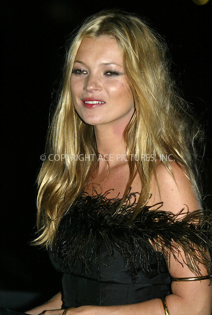 Model Kate Moss attended the Coty 100th Anniversary Party ate the American Museum of Natural History in New York City. September 12, 2004. Please byline: PHILIP VAUGHAN/ACEPIXS.com..*PAY-PER-USE*....IMPORTANT: Please note that our old trade name New York Photo Press has changed to ACE Pictures. New York Photo Press and ACE Pictures are both owned by All Celebrity Entertainment, Inc.......All Celebrity Entertainment, Inc..Contact: Alecsey Boldeskul, (646) 267 6913..Philip vaughan, (646) 769 0430..e-mail: info@acepixs.com..Philip.Vaughan@acepixs.com