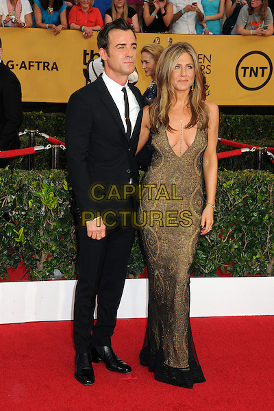 25 January 2015 - Los Angeles, California - Justin Theroux, Jennifer Aniston. 21st Annual Screen Actors Guild Awards - Arrivals held at The Shrine Auditorium. <br /> CAP/ADM/BP<br /> &copy;BP/ADM/Capital Pictures