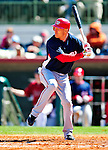 4 March 2010: Washington Nationals' third baseman Pete Orr at bat during the Nationals-Astros Grapefruit League Opening game at Osceola County Stadium in Kissimmee, Florida. The Houston Astros defeated the Nationals split-squad 15-5 in Spring Training action. Mandatory Credit: Ed Wolfstein Photo