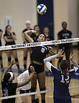 a college volleyball game, in Arlington, Vir., on Saturday, Nov. 1, 2014.<br /> Photo by Cathleen Allison