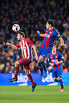 Saul Niguez Esclapez (l) of Atletico de Madrid battles for the ball with Luis Suarez of FC Barcelona during their Copa del Rey 2016-17 Semi-final match between FC Barcelona and Atletico de Madrid at the Camp Nou on 07 February 2017 in Barcelona, Spain. Photo by Diego Gonzalez Souto / Power Sport Images