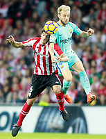 Athletic de Bilbao's Mikel San Jose (l) and FC Barcelona's Ivan Rakitic during La Liga match. October 28,2017. (ALTERPHOTOS/Acero) /NortePhoto.com