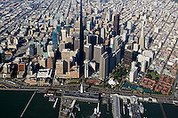 aerial photograph north waterfront Market Street San Francisco, California