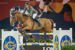 Ludger Beerbaum of Germany riding Casello during the Hong Kong Jockey Club Trophy competition, part of the Longines Masters of Hong Kong on 10 February 2017 at the Asia World Expo in Hong Kong, China. Photo by Juan Serrano / Power Sport Images