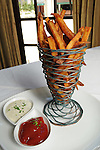 The sea salt french fries with ketchup and malt vinegar tartar sauce at Vic & Anthony's  Saturday Aug. 21,2010.(Dave Rossman/For the Chronicle)