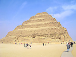 The Step Pyramid of King Djoser at the Egyptian burial ground of Sakkara near Cairo, Egypt.