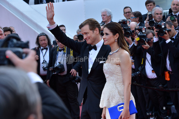 Colin Firth and his wife Livia Giuggioli at the 'Loving' screening during The 69th Annual Cannes Film Festival on May 16, 2016 in Cannes, France.<br /> CAP/LAF<br /> &copy;Lafitte/Capital Pictures /MediaPunch ***NORTH AND SOUTH AMERICA ONLY***