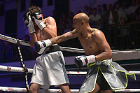 Paul Greenidge (silver shorts) defeats Callum Ide during a Boxing Show at York Hall on 8th September 2018