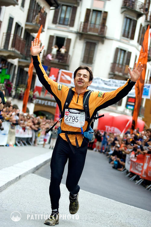 Christophe Jaquerod, the winner of the 2005 Ultra Trail du Mont Blanc. Chamonix, France