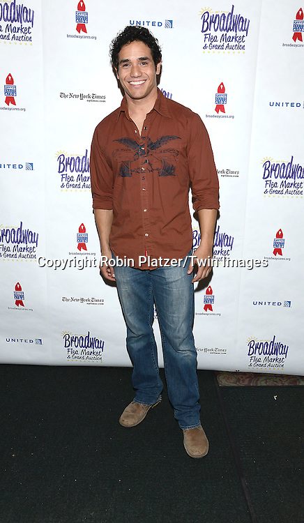 Adam Jacobs attends the 28th Annual  Broadway Cares/ Equity Fights Aids Flea Market and Auction on September 21,2014 in Shubert Alley in New York City. <br /> <br /> photo by Robin Platzer/Twin Images<br />  <br /> phone number 212-935-0770