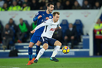 Christian Eriksen of Tottenham during the Premier League match between Leicester City and Tottenham Hotspur at the King Power Stadium, Leicester, England on 28 November 2017. Photo by James Williamson / PRiME Media Images.