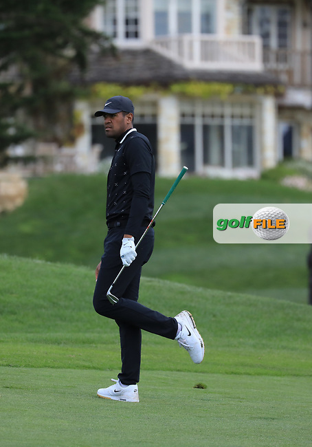 Tony Finau (USA) during the first round of the AT&T Pro-Am, Pebble Beach Golf Links, Monterey, California, USA. 07/02/2019<br /> Picture: Golffile | Phil Inglis<br /> <br /> <br /> All photo usage must carry mandatory copyright credit (© Golffile | Phil Inglis)