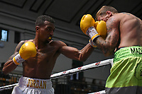 Jordan Dujon (white shorts) defeats Duane Green during a Boxing Show at York Hall on 7th September 2019