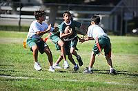 MS Flag football practice..Photo by Mark Tantrum