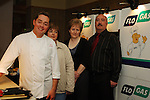 07-02-06 Chef Neven Maguire cookery demonstration in conjunction with Flogas held in the Kilmore Hotel, Cavan..Neven Maguire pictured with committee members from L to R: Ann-Marie Maguire, Karen Reilly and Michael McGrath.Photo:Barry Cronin/Newsfile.