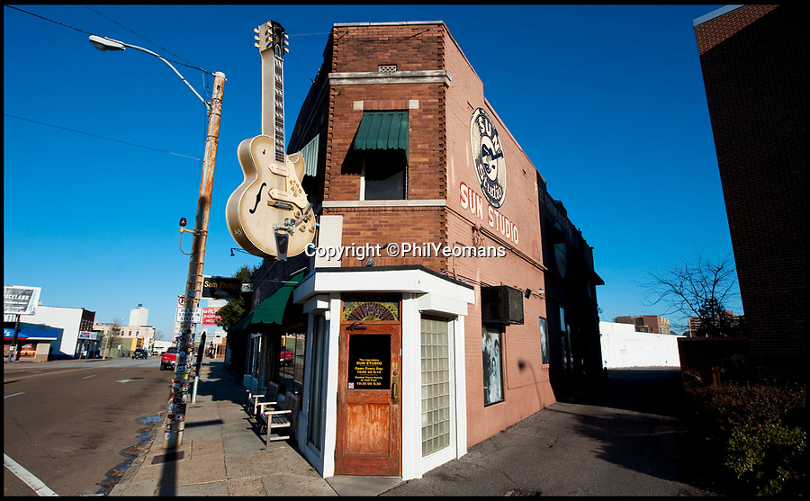 """BNPS.co.uk (01202 558833)<br /> Pic PhilYeomans/BNPS<br /> <br /> Sun Records in Memphis - Where Elvis recorded Thats All Right on a hot June night in 1954.<br /> <br />  Thats AlrightIn black and white - the winners and losers from the birth of Rock n Roll.<br /> <br /> Never-seen-before letters charting the struggles a record producer had in launching an unknown Elvis Presley into the music world have emerged for sale for £50,000.<br /> <br /> The fascinating archive reveals calamitous calls made by record executives and DJs who rejected Memphis music impresario Sam Phillips' efforts to get Elvis' name out there.<br /> <br /> Mr Phillips, boss of the fledgling star's first record label Sun Records, wrote: """"Sun has released a new artist who is creating a tremendous excitement...his name is Elvis Presley.""""<br /> <br /> The archive of 47 letters includes several rejection letters and is being sold by Henry Aldridge and Son of Devizes, Wilts."""