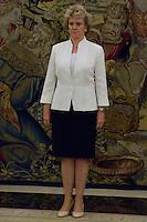 30.07.2012. King Juan Carlos I of Spain attends the audience with Soledad Becerril Bustamante, Defender of the People, at the Royal Palace of La Zarzuela. In the image Soledad Becerril Bustamante (Alterphotos/Marta Gonzalez) *NortePhoto.com<br /> <br />  **CREDITO*OBLIGATORIO** *No*Venta*A*Terceros*<br /> *No*Sale*So*third* ***No*Se*Permite*Hacer Archivo***No*Sale*So*third*&copy;Imagenes*con derechos*de*autor&copy;todos*reservados*.<br /> El uso de las imagenes est&aacute; sujeta de pago a  nortephoto.com
