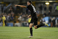 1st November 2019; Leichhardt Oval, Sydney, New South Wales, Australia; A League Football, Sydney Football Club versus Newcastle Jets; Matthew Millar of Newcastle Jets celebrates after scoring to make it 1-1 - Editorial Use