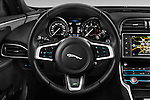 Car pictures of steering wheel view of a 2015 Jaguar XE R-Sport 4 Door Sedan Steering Wheel