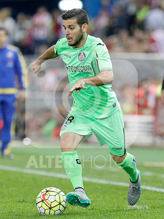 Getafe's Victor Rodriguez during La Liga match.September 22,2015. (ALTERPHOTOS/Acero)