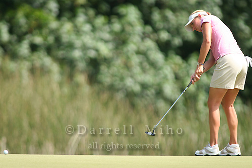 February 17, 2006; Kahuku, HI - Brittany Lang watches her putt during the second round at the LPGA SBS Open at Turtle Bay Resort...Mandatory photo credit: Darrell Miho.© Darrell Miho