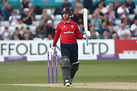 Adam Wheater raises his bat to celebrate reaching his fifty for Essex during Essex Eagles vs Yorkshire Vikings, Royal London One-Day Cup Play-Off Cricket at The Cloudfm County Ground on 14th June 2018