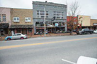 STAFF PHOTO ANTHONY REYES &bull; @NWATONYR<br /> A few store fronts along Emma Avenue Friday, Dec. 26, 2014 in Springdale. The Razorback Greenway will soon be finished through the downtown area which is hoped to bring more businesses and shoppers downtown.