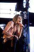 SKID ROW - vocalist Sebastian Bach - performing live at the Monsters of Rock festival at Castle Donington Leicestershire UK - 22 Aug 1992.  Photo credit: George Chin/IconicPix